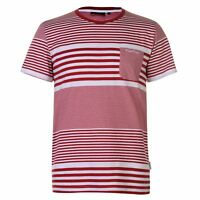 Pierre Cardin Mens Mix Stripe T Shirt Crew Neck Tee Top Short Sleeve Cotton