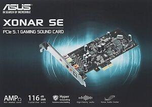 ASUS XONAR SE 5.1 Channel 192kHz/24-bit Hi-Res 116dB SNR PCIe Gaming Sound Card