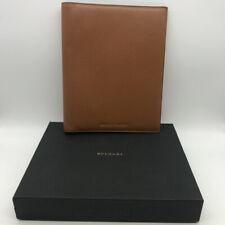 Bvlgari Brown Leather Padfoilio