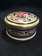 Colorful Wedgwood Clio Covered Trinket Dish Made In England #145 Bone China