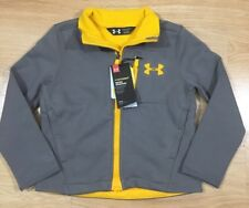 UNDER ARMOUR STORM1 Jacket Youth Size XS Gray And Orange Cold Gear NEW!!