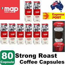 80 Capsules Map Caffitaly Italian Coffee Strong Roast Coffee Capsules - Express