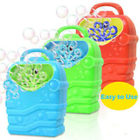 Bubble Machine Kids Durable Automatic Bubble Blower Outdoor Toy for Girls Boys