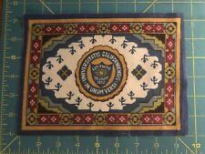 "Antique Tobacco Felt Flannel 5X8"" University of California Flag Good Orig Cond"