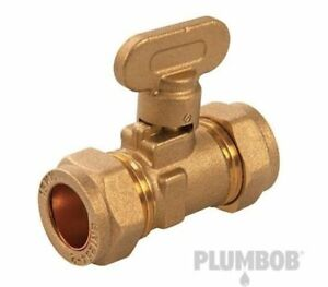 Plumbob Gas Isolating Valve 15mm Brass Tracked Delivery