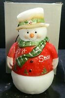 Vintage Fenton Limited Edition Signed Hand Painted Snowman Fairy Lamp 5940WX NIB