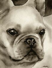 French Bulldog note cards by watercolor artist Dj Rogers