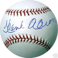 Hank Aaron Autographed MLB Baseball Steiner Holo / Coa