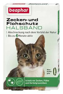 Beaphar 13790 Zecken- und Flohschutz Halsband (Repellent) 35cm, Katze
