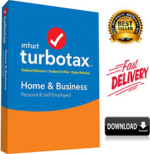 Turbotax Home and Business 2019 Tax Preparation Software  / INSTANT DELIVERY