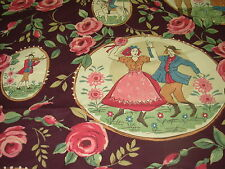 "~BTY~FABRICUT~""FOLK DANCE"" WOODLANDS~COTTON UPHOLSTERY FABRIC FOR LESS~ENGLAND~"