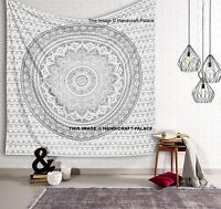 Indian Mandala Tapestry Hippie Wall Hanging King/Queen/Twin Size Bedspread Ombre