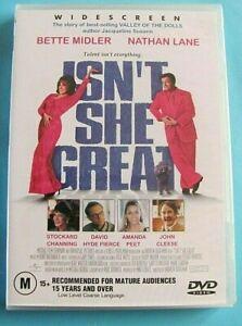 ISN'T SHE GREAT DVD Bette Midler John Cleese NEW SEALED Region 4