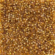 Miyuki Delica Seme Perline Taglia 10/0 (2.2 mm) rivestito TOPAZIO AB DBM0065 7.2 G Tubo