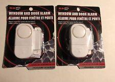 2 Portable Window and Door Alarms