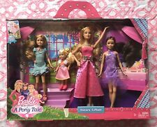 NEW HTF 2012 MATTEL BARBIE SISTERS in A PONY TALE 4 Doll HoLiDaY GiFTSeT Skipper