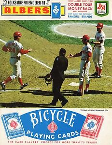 1970 Hank Aaron 3000 Hit Program Scorecard Braves At Reds Unscored HR 16/38 YR