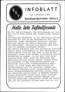 RL 1995/96 Spandauer SV - Tennis Borussia Berlin, 04.02.1996
