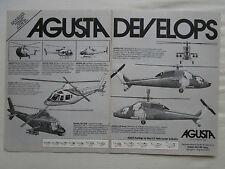 5/1981 PUB AGUSTA 101 G 105 106 129 109 CIVIL MILITARY HELICOPTER ORIGINAL AD