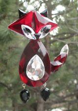 """Qql 4"""" Red Fox Woodland Animal Crystal Expressions Ornament ganz acrylic"""