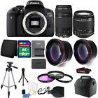 Canon EOS Rebel T6 DSLR Camera + 18-55mm IS II + 75-300mm 4 Lens Best Value Kit