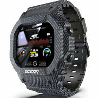 Sport Smart Watch Waterproof Heart Rate Blood Pressure Monitor For Android IOS
