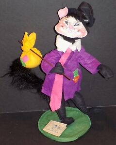 """ANNALEE HOBO CAT 15"""" WITH SMILEY FACE FROM 1988 #3040 NEW IN BAG"""