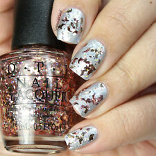 OPI NAIL POLISH Lacquer in INFRARED-Y TO GLOW ~ Red Confetti & Glitter Starlight