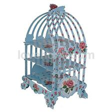Sweet Birdcage Cupcake Cake Stand Wedding Tea Party Display Holder Blue Rose
