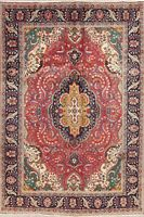 Traditional Medallion Area Rug Floral Wool Hand-Knotted Oriental Carpet 7x10