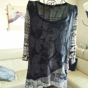 Damen - Shirt, Desigual XL, schwarz weiss NEU nicht getragen