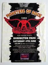 AEROSMITH rare billet ticket concert UK Monsters Of Rock 04/06/1994