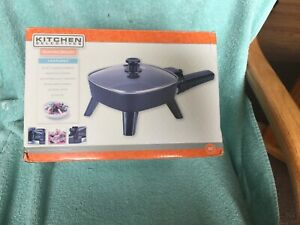 Kitchen Selective Electric Skillet.With Glass Lid. New