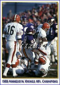 MINNESOTA VIKINGS 1969 NFL CHAMPIONS PRINT (comes in 4 sizes)