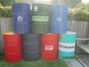Steel Oil Drum 205 Litre 45 Gallon Barrel BBQ Barbecue Incinerator Drums