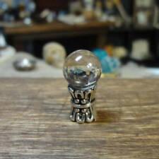 Crystal Ball on Tall Silver Base Dollhouse Miniature 1:12