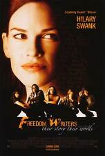 FREEDOM WRITERS Movie POSTER 27x40 B Hilary Swank Patrick Dempsey Imelda