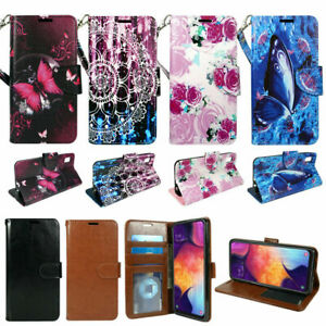 For LG Aristo 4+ Plus, Prime 2, PU Leather Wallet Phone Case Flip Slots Stand