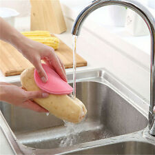 Silicone Dish Washing Sponge Scrubber Kitchen Cleaning antibacterial Tool