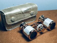 Beautiful Vintage Mignon 2.5X Pink Gold Tone Mother of Pearl Opera Glasses Japan