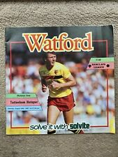 Watford v Tottenham Hotspur - Barclays League Div 1 1987/88 Programme