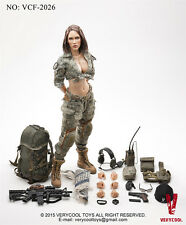 VERYCOOL VCF2026 1:6 ACU Camo Woman Shooter Female Action Figure Model In Stock