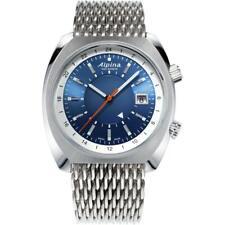 Alpina AL-555LNS4H6B Men's Watch Startimer Pilot Heritage Blue Dial Bracelet