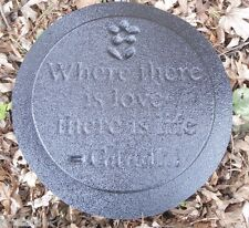 """plastic plaque mold """"Where there is love.""""garden ornament stepping stone"""