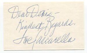 Joe Cascarella Signed 3x5 Index Card Baseball Autographed 1934 Tour of Japan