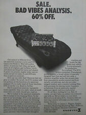 4/1975 PUB ENDEVCO ETC TEST CELL SYSTEM VIBES VIBRATION ORIGINAL AD