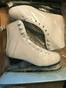 American Athletic Girl's American Leather Lined Figure Skates Size 9Y