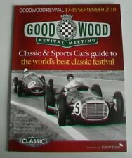 GOODWOOD REVIVAL CARS & SPORTS CARS GUIDE 2010 - NEW