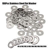 304 Stainless Steel Useful Washer Plain Gaskets Washers Kit Metric Flat Screw
