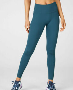 FABLETICS Women's 'SEAMLESS LACE-UP' Celestial Blue HIGH-WAISTED LEGGINGS - L